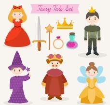 10款童话元素及人物矢量素材_lanrentuku.com