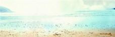 蓝色大海banner背景素材
