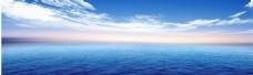 大海蓝天背景