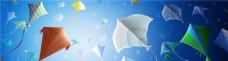 彩色的风筝banner背景
