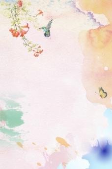 春季主题海报背景3