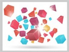 2017创意多面体组合底纹元素H5背景