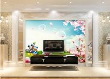 桃花装饰背景墙