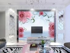 花卉装饰墙