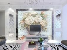 装饰花卉静物背景墙