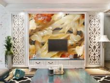 玉雕背景墙元素