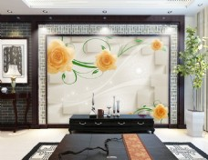 花卉花藤装饰背景墙