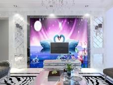 抽象风格元素背景墙