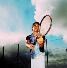 打网球图片