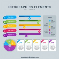 一组彩色商务信息图标素材