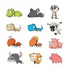 各种动物可爱卡通图