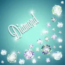 璀璨钻石背景