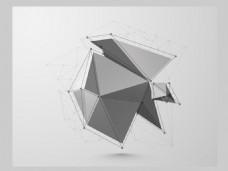 2017创意多面体点线元素H5背景