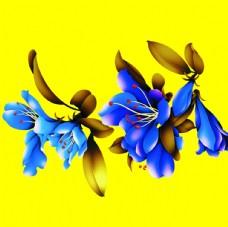3D兰花 背景墙素材