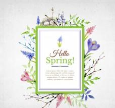花卉装饰卡片