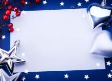 蓝色星星装饰背景图片