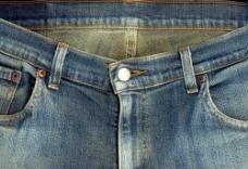 牛仔裤前面摄影图片