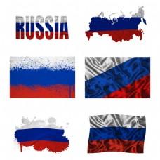 俄罗斯地图国旗图片