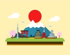 日本风景民族风情插画