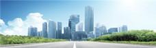 现代城市背景banner