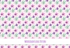 紫色唯美花卉背景