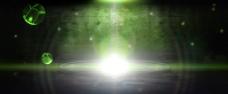 绿色炫光背景
