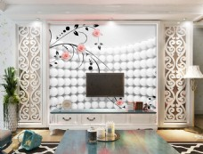 花卉花纹元素背景墙