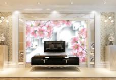 花卉抽象背景墙