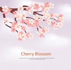 朦胧粉底春季樱花背景