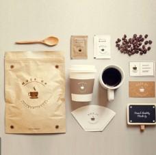 休闲咖啡店全套VI智能贴图