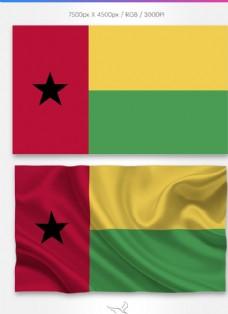 几内亚比绍国旗分层psd