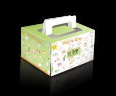 卡通图案 4寸 果立方 蛋糕盒
