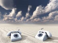 沙漠上的电话图片