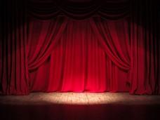 红色舞台幕布图片
