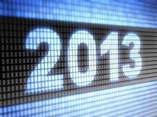 2013新年数字背景图片
