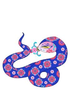 带花纹的卡通蛇图片