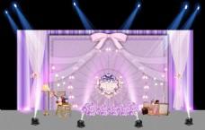 粉紫摩天轮公主风 留影区  婚礼 背景图