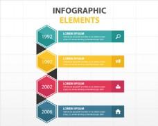 一组彩色信息图表元素