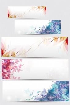 花卉banner背景