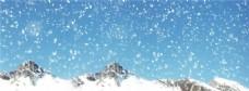 唯美雪山背景banner
