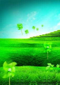 绿色田野背景