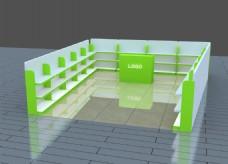 儿童玩具绿色系柜子