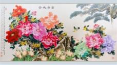 节约创意牡丹花装饰画