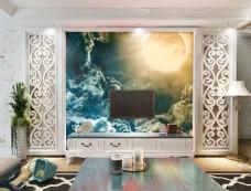 白鹤装饰背景墙