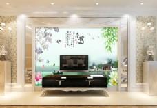 花卉竹子背景墙