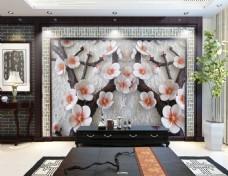 花卉浮雕装饰墙