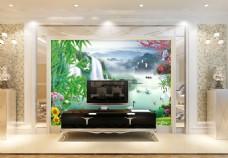 风景元素背景墙