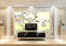 花朵装饰背景墙