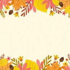 黄色树叶秋天背景