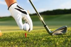 打高尔夫球图片